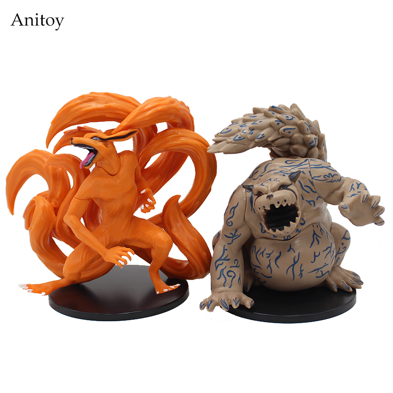 2pcs/set NARUTO Kyuubi Kurama Shuukaku PVC Figure Collectible Toy 11cm KT4019 ветровики skyline ford focus 2 sd hb 04