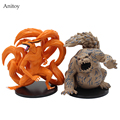 2pcs/set NARUTO Kyuubi Kurama Shuukaku PVC Figure Collectible Toy 11cm KT4019