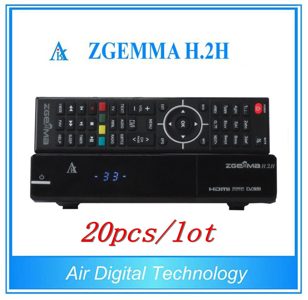 20pcs/lot Digital IPTV FTA Satellite Receiver Zgemma H.2H With Original Linux OS Enigma2 DVB-S2+S2 PVR Tuner satlink ws 6908 3 5 lcd dvb s fta data digital satellite signal finder meter