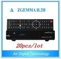 20pcs/lot Digital IPTV FTA Satellite Receiver Zgemma H.2H With Original Linux OS Enigma2 DVB-S2+S2 PVR Tuner