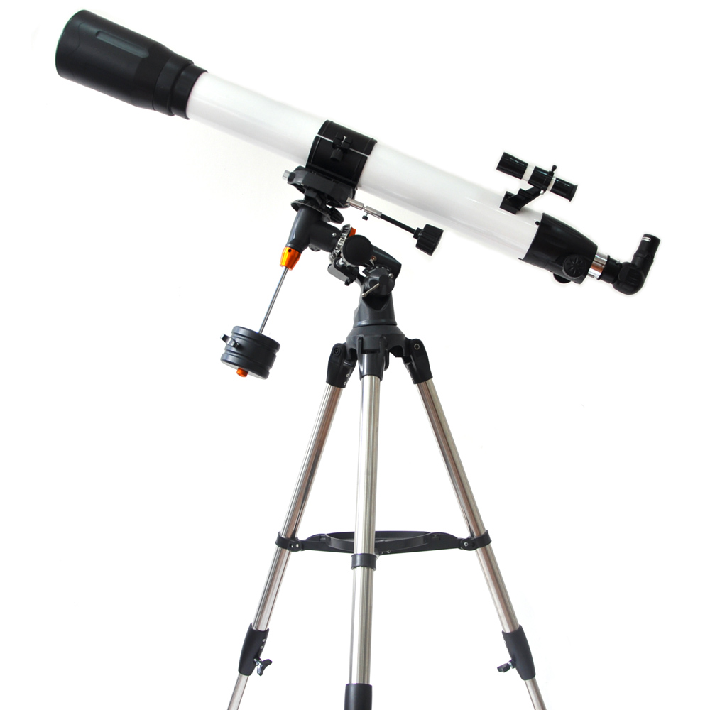 Visionking 90mm 90-1000 Equatorial Mount Space Refractor Astronomical Telescope Outdoor Sky Observation Astronomy Telescope 6fx1112 0aa02 90