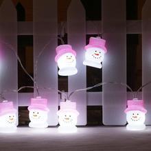 Светодиодный милые строки огни украшения комнаты батареи lightsstyle огни 1,5 m 10 светодиодный