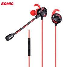 Somic G618 In Ear 게임용 이어폰, 컴퓨터 랩톱 용 마이크 3.5mm 유선 헤드셋, 패드 휴대 전화 용