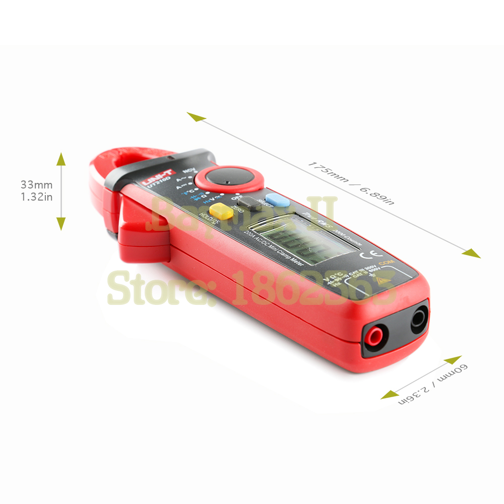 UNI T UT210D True RMS AC DC Current Voltage Mini Clamp Meter with Frequency Capacitance Resistance Temperature Measurement in Multimeters from Tools