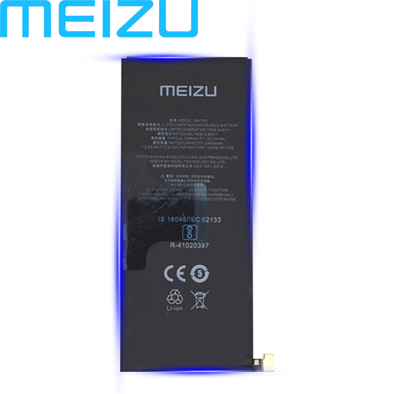 Meizu 100% Original BA793 Battery For Meizu Pro 7 Plus Mobile Phone In Stock High Quality 3510mAh With Tracking Number