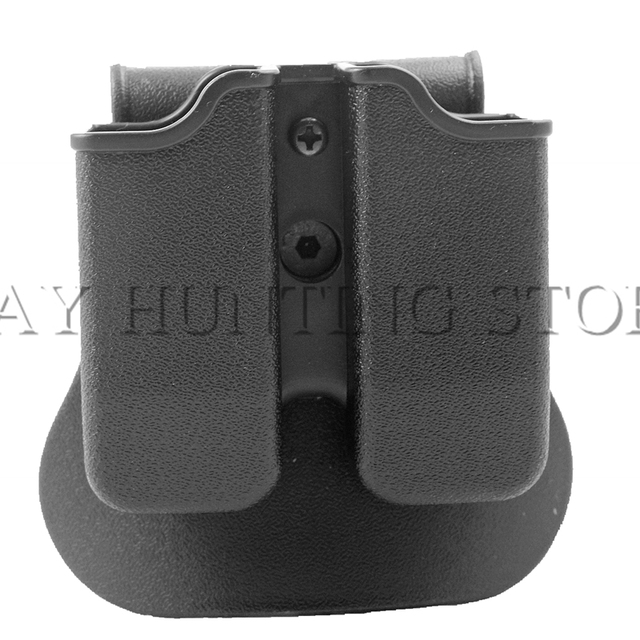 82abbcaae05a Tactical Double Magazine Pouch Airsoft Hunting Belt Double Mag Pouch for 9mm  GL 17 21 M9