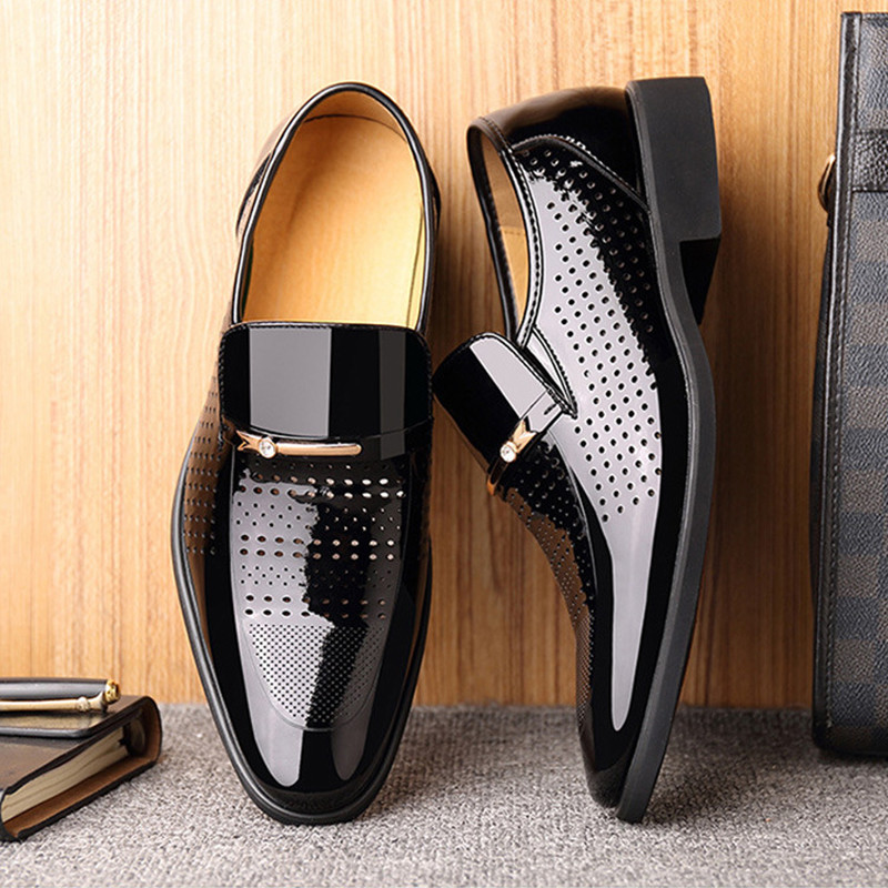 RGKWXYER New Brand Hollow Out Men Formal Shoes High Quality Oxford Leather Dress Shoes Fashion Business Men Shoes Wedding Shoes in Formal Shoes from Shoes
