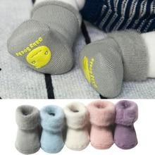 Новинка года; Милые однотонные шерстяные носки зимние толстые махровые носки для малышей теплые хлопковые носки для новорожденных мальчиков и девочек; милые носки для малышей