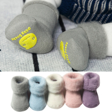 2018 new cute solid color woolen socks Winter Thick Baby Terry Socks Warm Newborn Cotton Boys Girls Cute Toddler Socks 10pairs pack newborn infant kids 0 3year socks new baby terry socks winter warm wholesale cartoon cotton boys girls