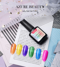 10ml Jelly Gel Nail Polish Disney Princess Collection Translucent Color Summer Attribute UV LED Art French manicure