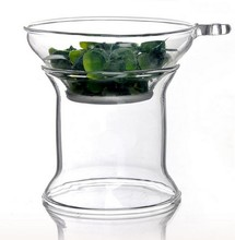 1PC Split type heat-resistant glass tea Kung Fu tea strainer manual transparent tea filters tea accessories J1075
