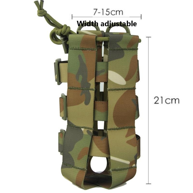 Image 3 - Наружная тактическая бутылка для воды сумка нейлон Военная фляга Чехол кобура чайник для путешествий сумка 0.5L 2.5L-in Мешки для воды from Спорт и развлечения