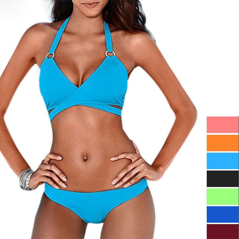 Urlaub sexy reine Farbe Bikini Design große Brust Dreieck & kleine - Sportbekleidung und Accessoires - Foto 6