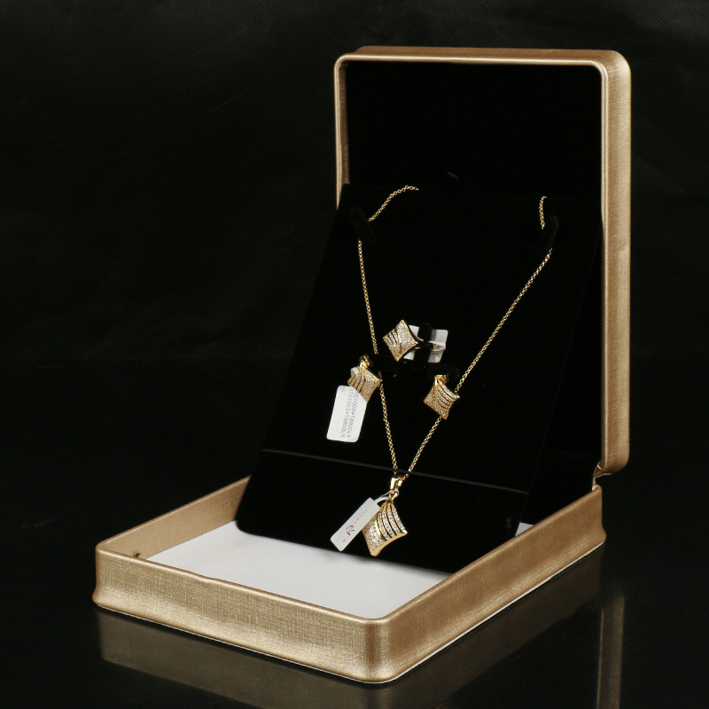 Gold Pu Necklace And Earring Set Up Box Free Shipping In Jewelry Packaging Display From Accessories On Aliexpress Alibaba Group