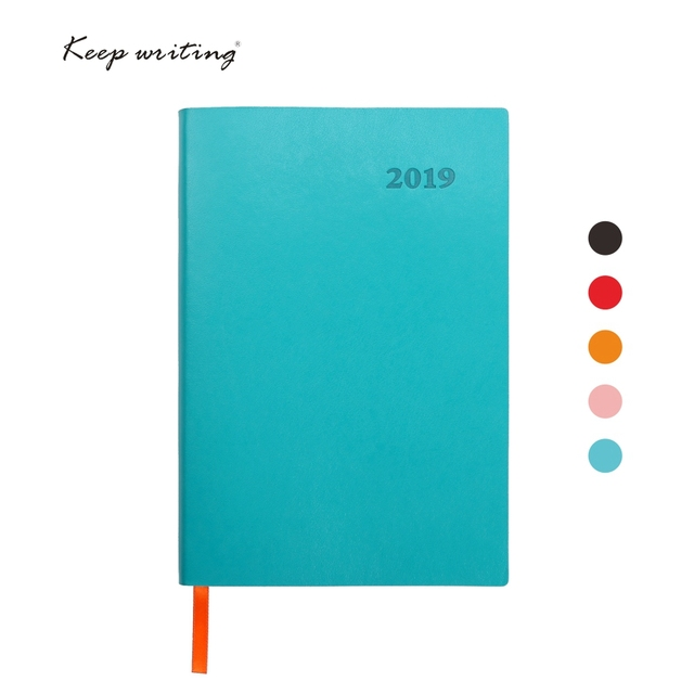 US $17 29 |2019 Diary week on three pages Journal chinese calendar Planner  Agenda 192 sheets 80gsm paper 12 Months plan Notebook china-in Notebooks