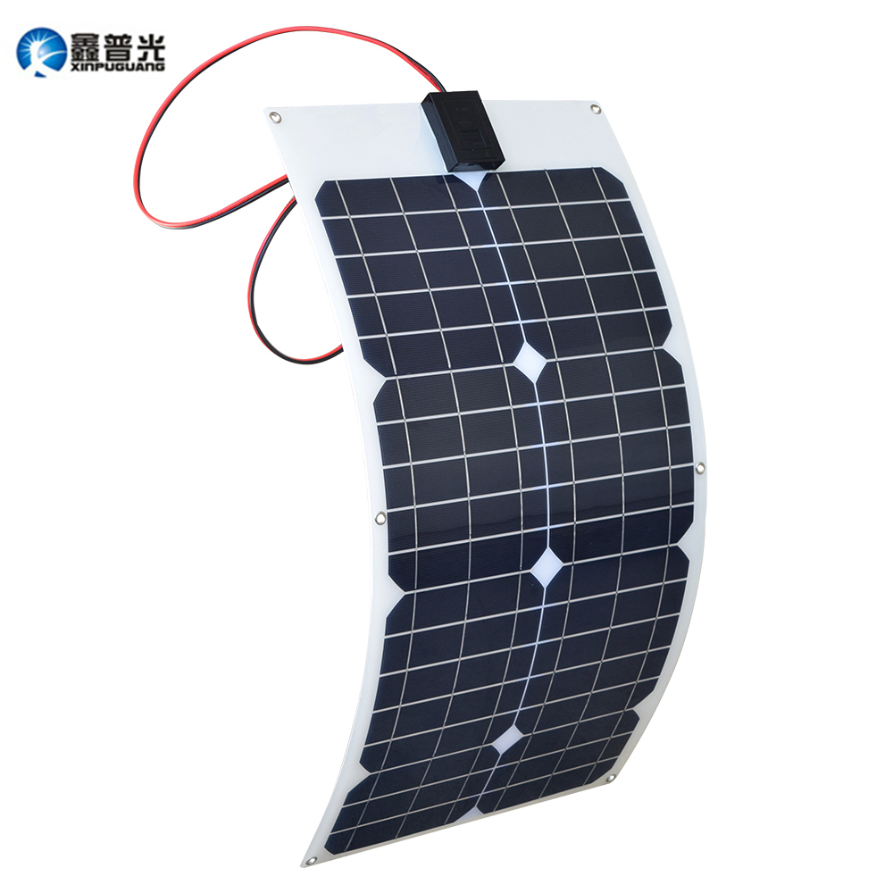 Xinpuguang 30w Flexible Solar Panel Solar Cells Cell Module DC for Car Yacht Led Light RV