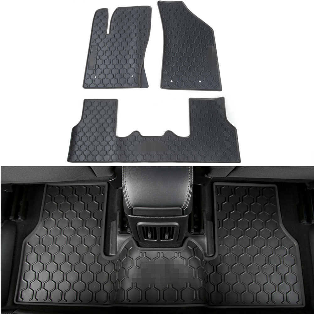 Floor mats jeep compass - 3x Black Rubber New Car Floor Mats Liner Carpets Cover Fit For Jeep Compass 2017