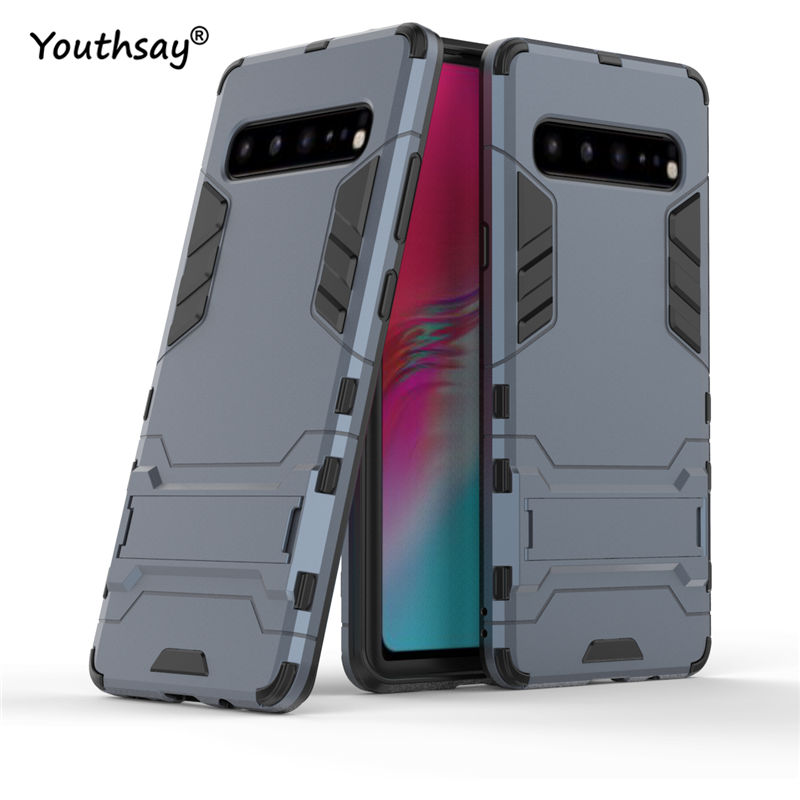 For Samsung Galaxy S10 5G Case Luxury Robot Hard Back Phone Case For Samsung Galaxy S10 5G Back Cover For Galaxy S10 5G Case in Fitted Cases from Cellphones Telecommunications