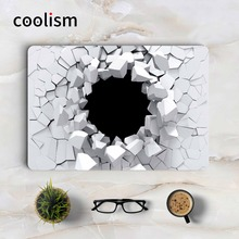 3D Broken Wall Laptop Skin for Apple Macbook Decal Pro Air Retina 11 12 13 15 inch Mac Book Full Cover Protective Skin Sticker