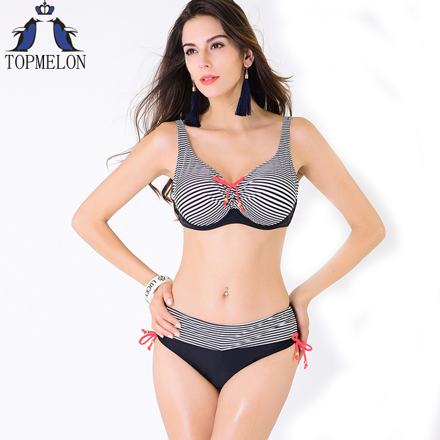 Push-up Swimsuit Bikini Set Large Size Swimwear Bathing Suit