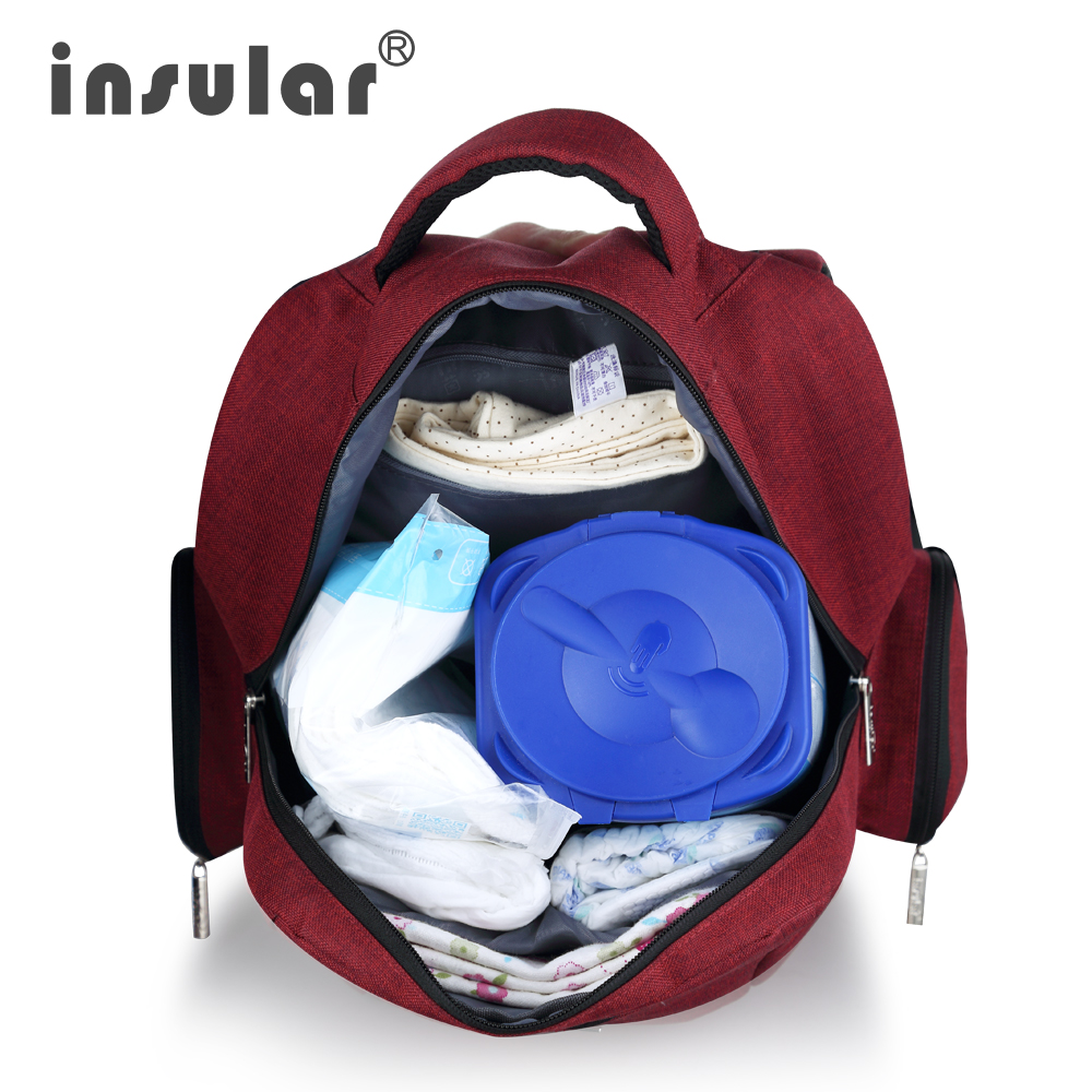 Marca Insular bolso de pañales de bebé maternidad mochila estilo de - Pañales y entrenamiento para ir al baño - foto 5
