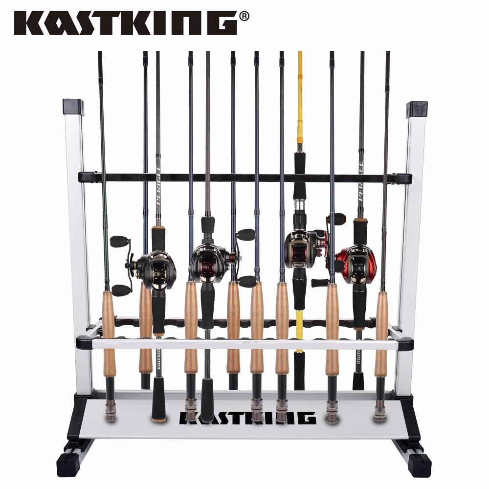 KastKing Ultralight Fishing Rods Holder Portable Aluminum 24 Fishing Rod Racks Great for Storing Fishing Poles