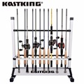 KastKing Ultralight Fishing Rods Holder Portable Aluminum 24 Fishing Rod Racks Great for Storing Fishing Poles on Boat, at Home