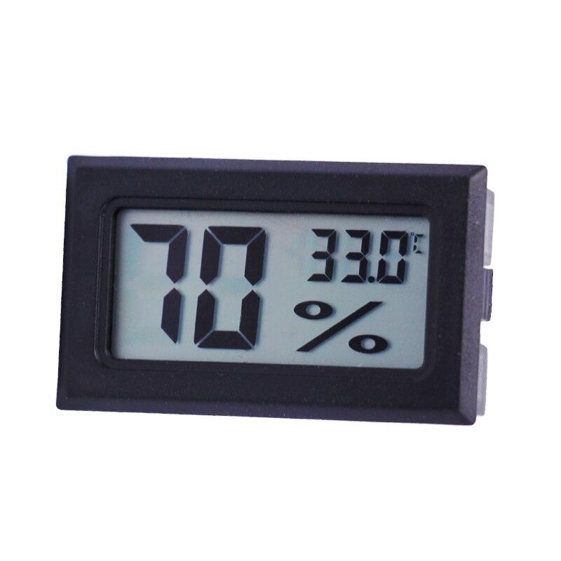 Mini Digital Temperature Humidity Meter Gauge Thermometer Hygrometer LCD Degree Celsius(C) Display White Black 20%off