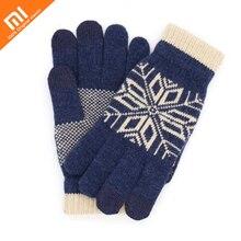 Новые оригинальные Xiaomi mijia сенсорные перчатки мужские Wo мужские s шерстяные зимние теплые перчатки для IOS и Android телефон планшет трогательный