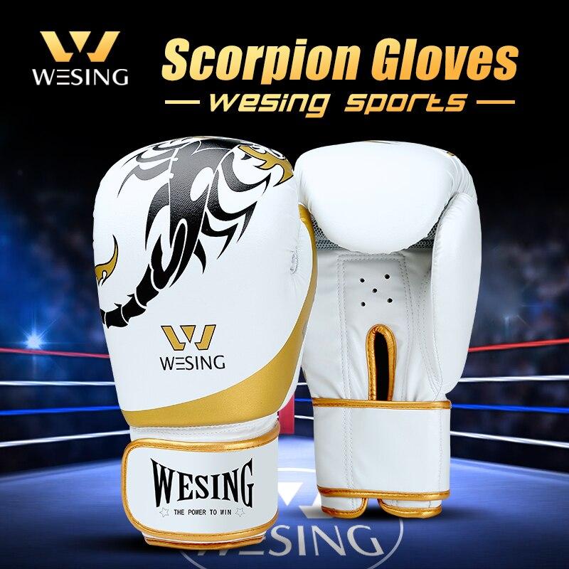 Wesing Boxing-Gloves Muay-Thai Sanda Boxe Guantes-De-Boxeo New Luva Scorpion-Pattern