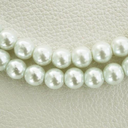 8 мм 30 шт белый черный зеленый фиолетовый Круглые Стеклянные Перламутровые Бусины много цветов на выбор PS-BBD012 - Цвет: White