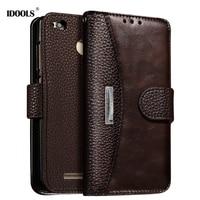 For Xiaomi Redmi 4X Case IDOOLS Dirt Resistant 5 0 Inch Luxury PU Leather Flip Wallet