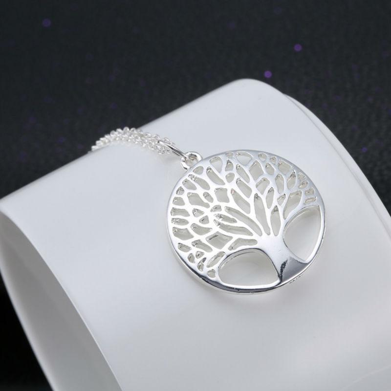 pulseras, Colgante, pendientes 925 plata encanto de árbol de la vida 12mm