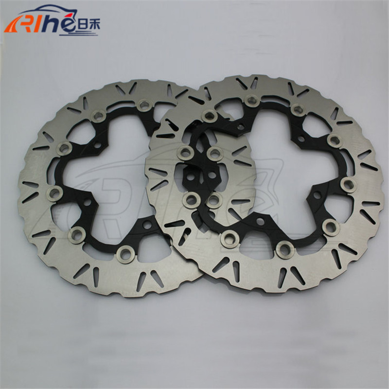 hot selling Aluminum alloy &Stainles steel motorbike front brake disc rotos For SUZUKI GSX1300 B-KING ABS/NON 2008-2009 front brake disc rotor for suzuki gsxr1000 abs 2015 up gsx r1000 non abs 2009 up gsxr600 gsxr750 2008 up gsx r600 gsx r750