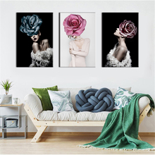 Abstract Nordic Posters HD Prints Creative Sexy Women Print Oil Painting Canvas Wall Art Pictures Living Room Home Decoration
