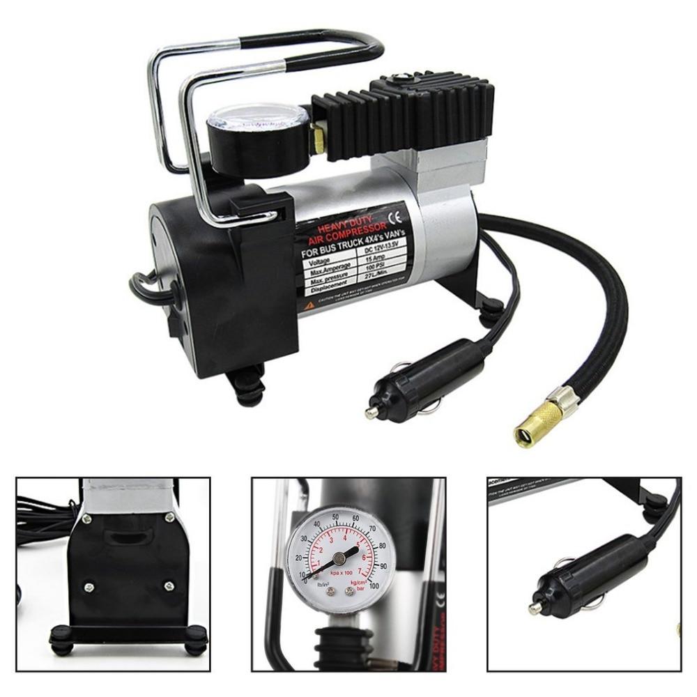 Portable Super Flow DC 12V 100PSI 15Amp Air Compressor Tyre Inflator Car Air Pump Vehicle Pump Electric Pressure Gauge