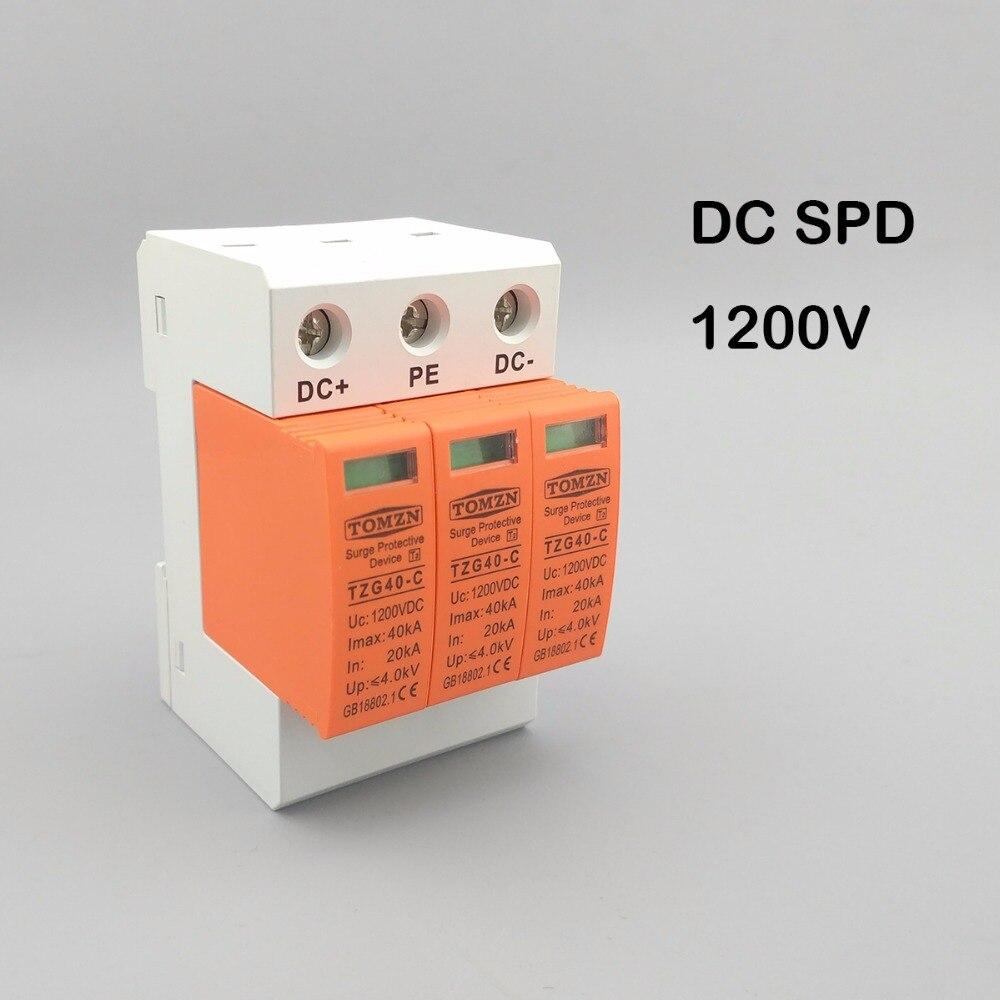 SPD DC 1200 V 20KA ~ 40KA Maison Parasurtenseur De Protection Basse tension Parafoudre Dispositif