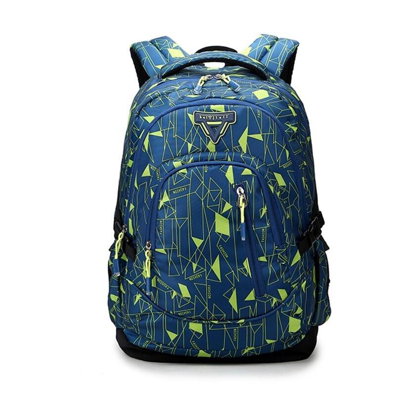 girl blue bag to school fashion feminine laptop backpack brand female travel bag high school bags for women bookbag bagpack