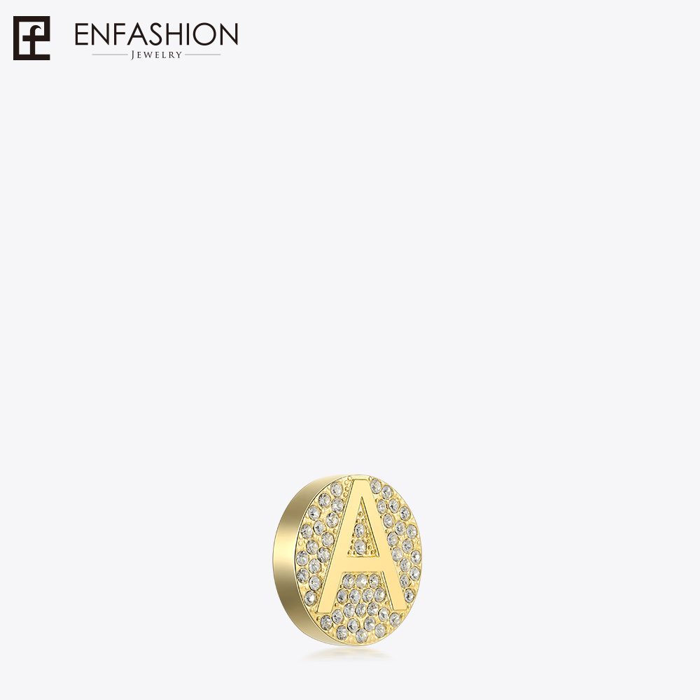 Enfashion Play Series Crystal Initial Letters Screw Pendant Gold Color Letter Charms Women Pendants DIY Jewelry CF187001SG