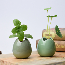 Ceramic small flower vase home decoration water culture container green plant tea ceremony Handicraft ornaments