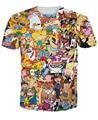 Hombres de Dibujos Animados Totalmente 90 s Camiseta Rugrats Pokemon Hey Doug Arnold Animaniacs Castores Enojado Johnny Bravo Dexter Chicas superpoderosas tee