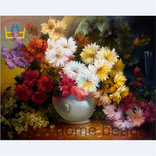40x50cm framed picture paint on canvas diy digital oil painting by numbers home decoration craft gifts fruit flowers G342(China)
