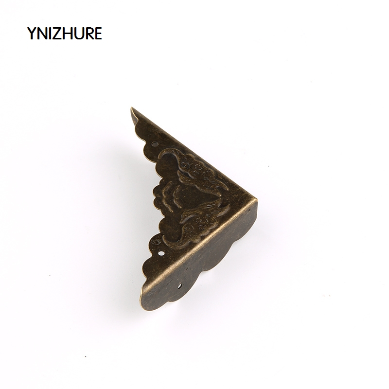50Pcs 42*42mm Book Scrapbooking Albums Corner Bracket Antique Brass Decorative Protectors Crafts For Furniture Hardware 42