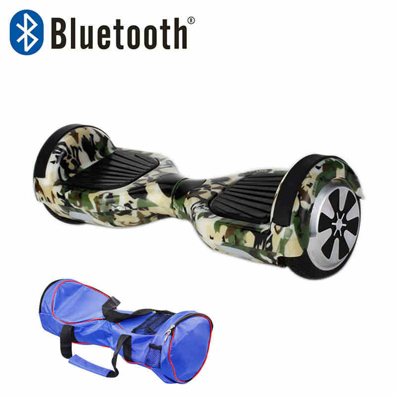 8 цветов 6,5 дюймов Ховерборд Bluetooth два колеса самобалансирующийся скутер Ховер доска с сумкой для переноски UL сертифицированный Бесплатная доставка