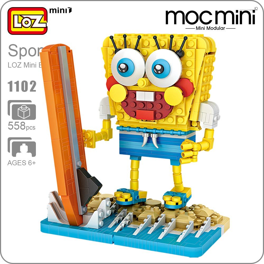 LOZ Mini Building Blocks Moc Block Sets Surf Figures Action Mini Figure Bricks Toys For Children Educational DIY Anime Gift 1102