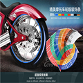 Hot Vender 16 Tiras Roda Etiqueta Reflexiva Rim Stripe Tape Para Carro Motocicleta Da Bicicleta 16 17 18 polegada