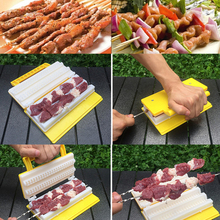 BBQ Kebab Maker Double / Single Row 1 Pcs Meat Skewer Machine Quick Skewer Easy BBQ Tools 2019 New Outdoor Kitchen Accessories
