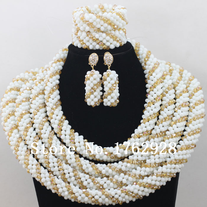 2016 White Coral Bead Sets Jewelry Latest Design Nigerian Beads ...