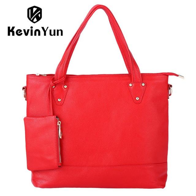 ccd3bb540be1 KEVIN YUN Designer Brand Luxury Women Bag Genuine Leather Handbag Shoulder  Bags Ladies Tote Large Capacity