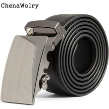 ChenaWolry 1PC Fashion Accessory Luxury Men Leather Automatic Buckle Belts Fashion Waist Strap Belt Waistband Oct 12
